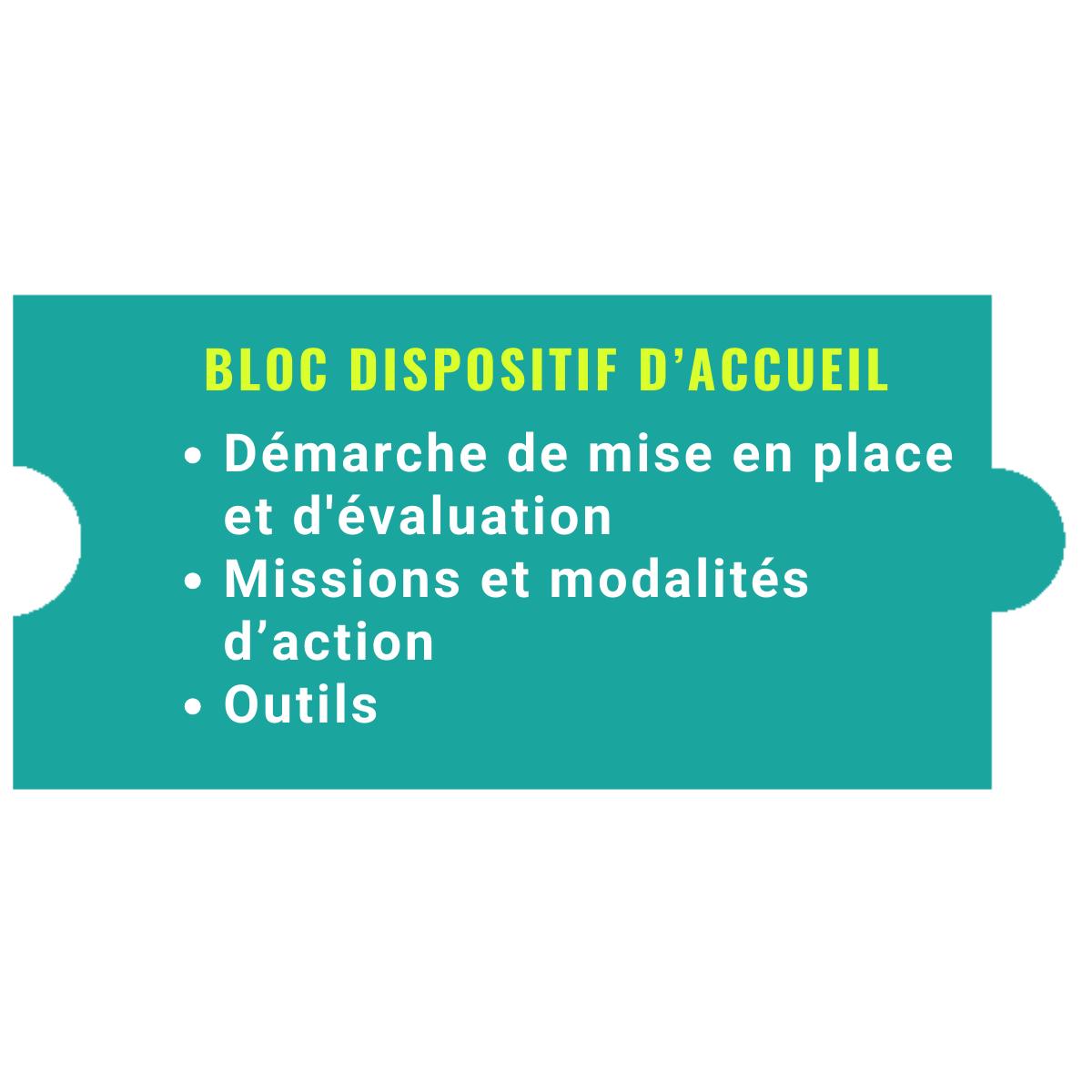 Bloc DISPOSITIF d'ACCUEIL